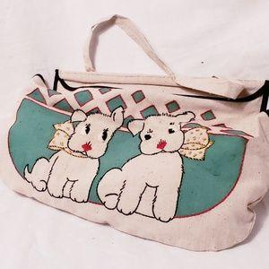 Vintage Mid-century Doggie Handbag